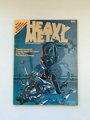 Heavy Metal Magazine Issue #1 April 1977 with Insert FN/FN+