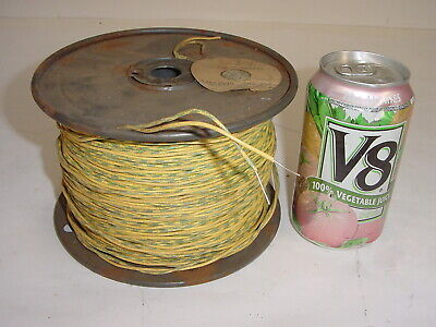 Vintage NOS Western Electric 20 AWG Gauge Cloth Silk Tube Amp Wire - 650' 2-Cond