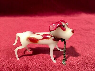 Vintage 1950s Murano blown Art Glass Hunting Dog Figurine Sculpture Miniature