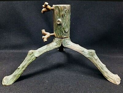 Antique German Christmas Tree Stand - 1930's - Cast Iron - Rustic Earth Roots