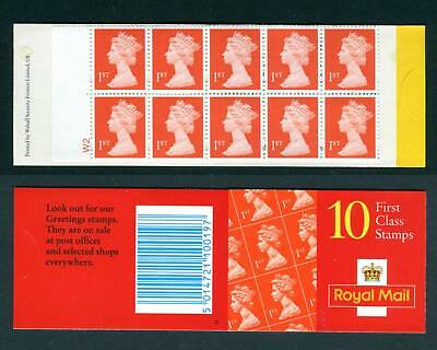 GB 1999 HD44b CYL W2 1ST CLASS NO LONGER VALID. Walsall Cylinder Barcode Booklet