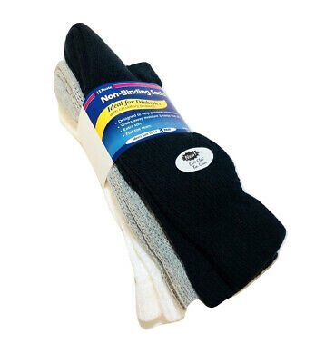 J.T. Foote Non-Binding Diabetic Crew Socks, Mens