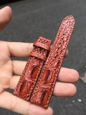 38mm Genuine Crocodile Leather Watch Strap Band for Apple Watch Series 1-4