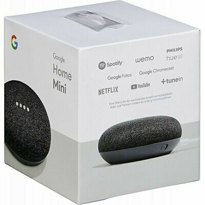 Google - Home Mini - Smart Speaker with Google Assistant - Charcoal - NEW SEALED