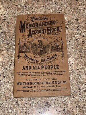 """Pierce's Memorandum Account Book"" booklet; 1895; FINE; 48 pgs; 3 3/8"" x 5 5/8"""
