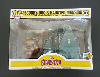 Funko Pop! Town #01 SCOOBY DOO and HAUNTED MANSION 50 Years Set *IN HAND*