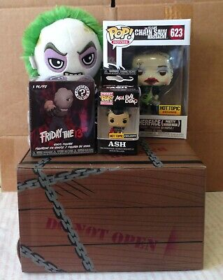Funko Pop Texas Chainsaw Massacre LEATHERFACE Hot Topic Exclusive HORROR BOX SET