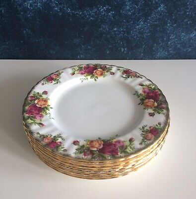 Set Of 6 Royal Albert Old Country Roses Salad Plates •USE MARKS