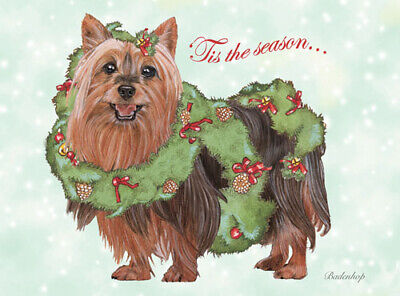 Silky Terrier Christmas Cards Set of 10 cards & 10 envelopes