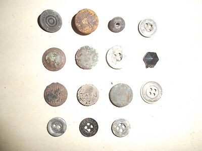 Metal Detector Finds lot,metal buttons 1 glass /case /usa /united carr /ect.age?