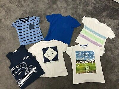 Boys T Shirt Job Lot Age 4-6 Firetrap Pep & Co H & M