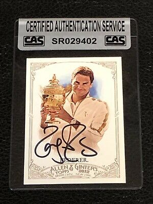 Roger Federer 2012 Topps Allen & Ginter's Signed Autographed Card Cas Authentic