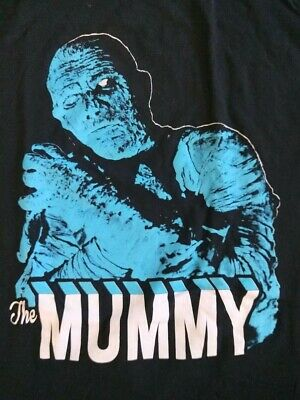 The Mummy T-Shirt Famous Monsters Size Xl Dracula Frankenstein Wolfman Horror