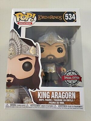 Funko Pop Lord of the Rings #534 KING ARAGORN Special Edition W/Protector