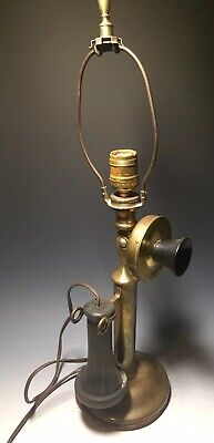 VINTAGE WESTERN ELECTRIC #323BW CANDLESTICK TELEPHONE as Lamp