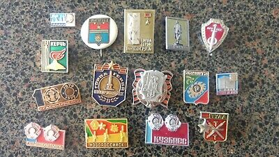 USSR Russian CCCP hero towns cities badge