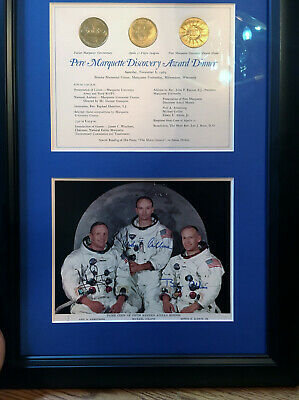 Apollo 11 Autographed Photo Lithograph NASA Marquette Discovery Award Ceremony