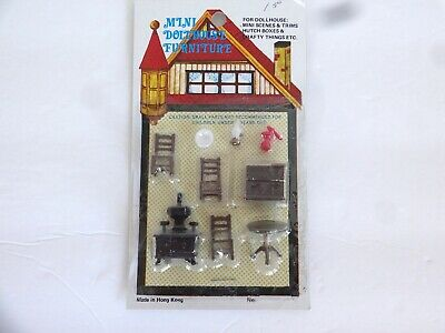 Vintage Miniature Mini Tiny Dollhouse Furniture Diorama 1:48