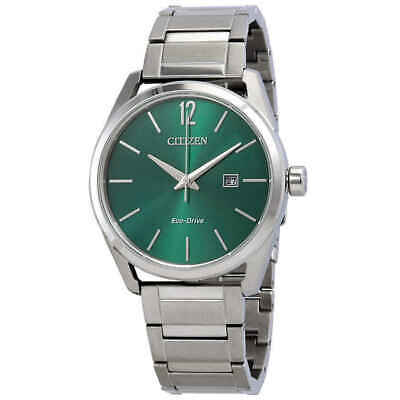 Citizen Eco-Drive Men's BM7410-51X CTO Green Dial Stainless Steel Watch