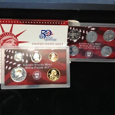 2000-S Complete SILVER Proof Set w Box and COA