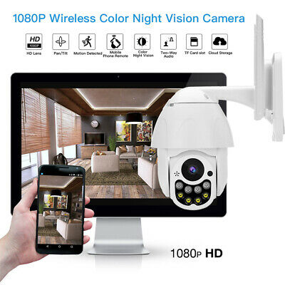 2MP Wireless Wifi IP Camera Speed Dome Infrared Motion Detection Safety Security