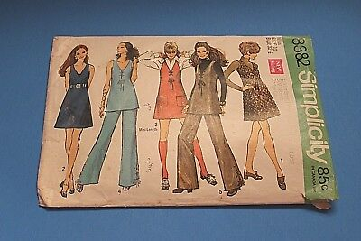VTG 1960's Simplicity Sewing Pattern 8382 Size 10 Bust 32 1/2 Missing Guide !!