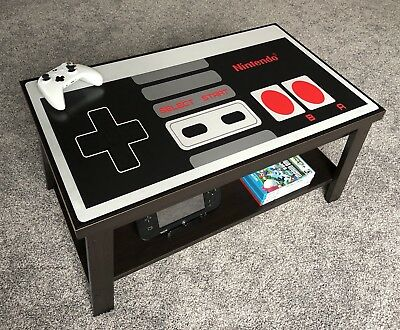 Nintendo Controller Coffee Table Espresso Brown NES - Free Shipping!
