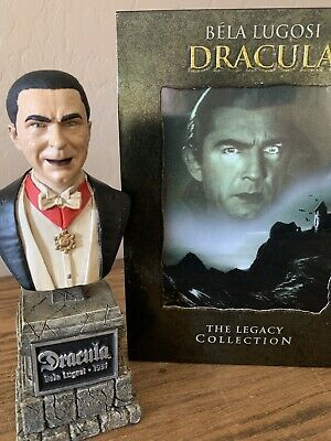 Sideshow Universal Monsters Legacy Dracula Bela Lugosi Mini Bust & Movie DVD's