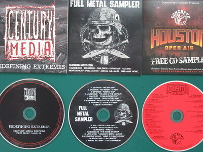HEAVY METAL Promo Compilations (Napalm Death, At The Gates, Marduk) - 3CDs