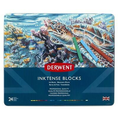 Derwent Inktense Permanent Watercolour Blocks, Set Of 24, Professional Quality,