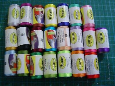 22 Assorted Machine Embroidery Threads (300m per reel)