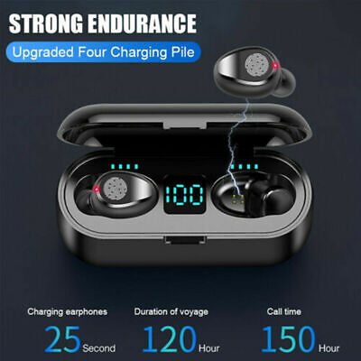 AU Wireless TWS Bluetooth 5.0 Earbuds Headphone Waterproof Mini Sports Earphones
