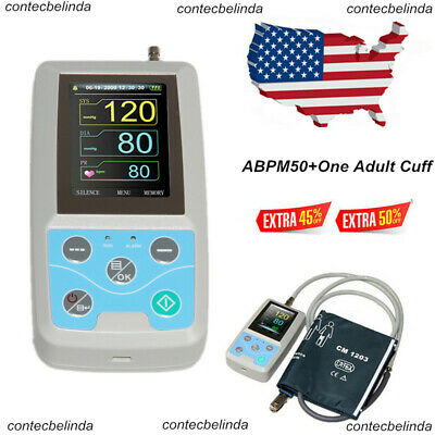 24Hr ABPM50 NIBP Monitor Ambulatory Blood Pressure Holter,PC Software NEW USA