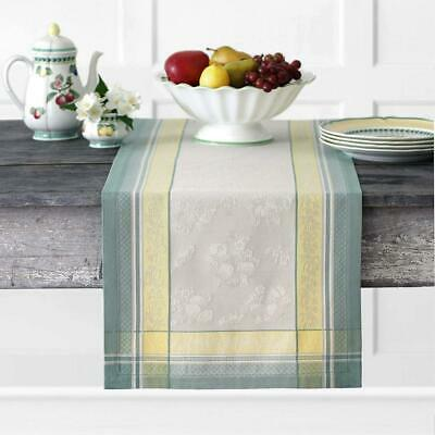 """Villeroy and Boch Fleurence Jacquard Cotton Fabric 16"""" x 72"""" (Table Runner)"""