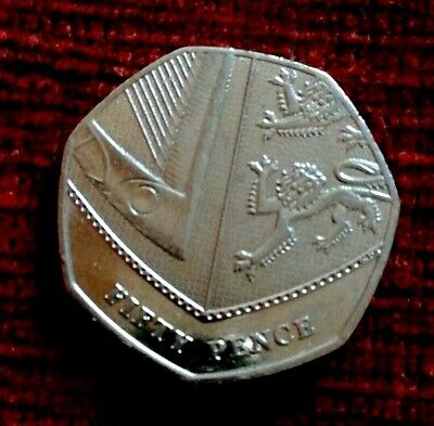 2017 Royal Shield Of Arms 50p Fifty Pence Coin very low mintage