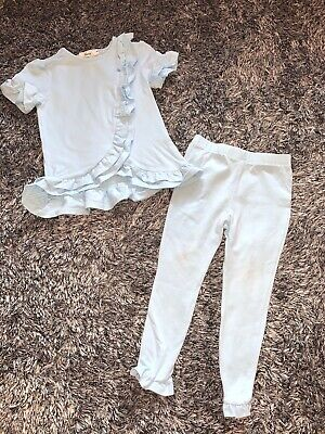 Worn Once - Harris Blue Frill Tracksuit Legging Set - Baby Blue - Age 4 Years