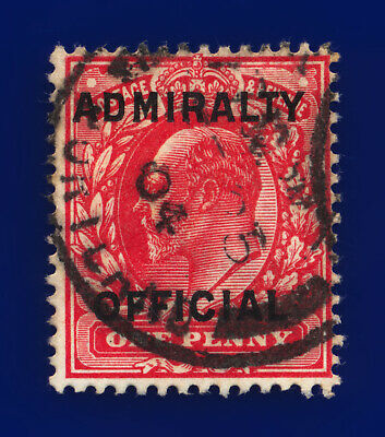 1903 SGo108 1d Scarlet Admiralty Official MO37 FE 25 04 Good Used Cat £28 cqjo