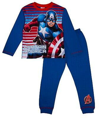 Official Boys Captain America Avengers Pyjamas Pjs Ages 4 to 10 Years
