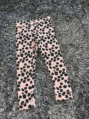 Worn Once - Baby K Pink & Black Spotted Leggings - 24 - 36 Months 2 - 3 Years
