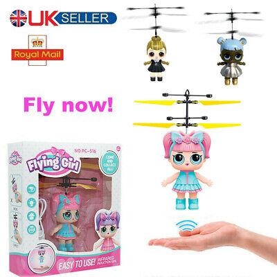 Flying Fairy Girls Surprise Doll Infrared Induct Control Xmas Toys Birthday Gift