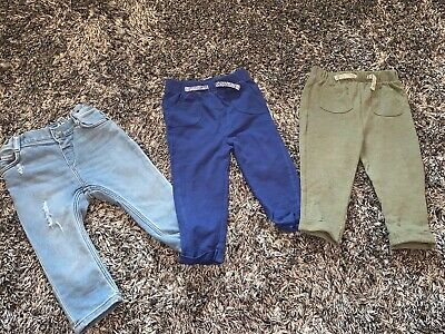 Excellent Condition - Baby Boys Trousers Bundle Jeans & Joggers 12- 18M H&M