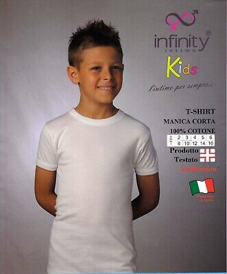T-Shirt Intimate Boy half Sleeve - T Shirt Cotton Hypoallergenic infinity