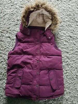 Fat Face Gilet Very Warm Padded And Sherpa Style Lined Age 12-13 With Removable