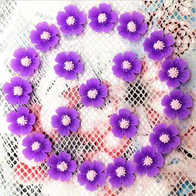 20pcs Resin Flower flatback Appliques For phone/wedding/crafts
