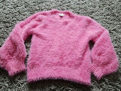 River Island Super Soft Fluffy Pink Jumper Age 5-6 So Soft! Crew Neck