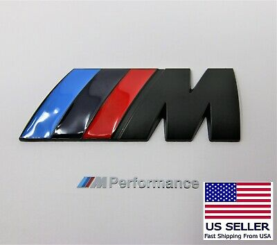 M Badge Decal Trunk Emblem Logo Metal Matte Black Fits BMW M2 M3 M4 M5 M6