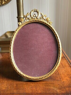 "Antique French Louis XVI Style Oval Picture Frame 7"" x 4.5"""