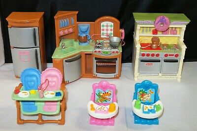 Fisher Price Loving Family KITCHEN Furniture & Twin High Chairs - YOU CHOOSE
