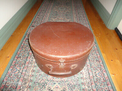 Vintage Hatbox Luggage Case Travel ,Shop display, Army Issue
