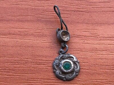 Ancient Byzantine Medieval Bronze Earring Circa 900-1200 AD Very Rare